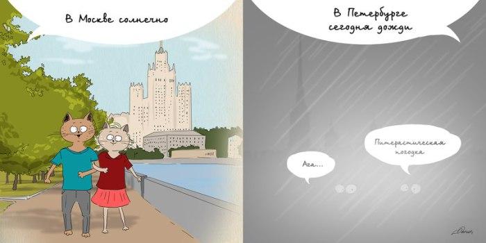 Москва VS Питер: погода - извечная тема.