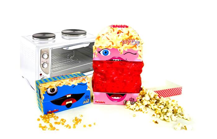 Упаковка для попкорна Mr.&Miss Popcorn (дизайнер Vijani Bulumulla, Sri Lanka)