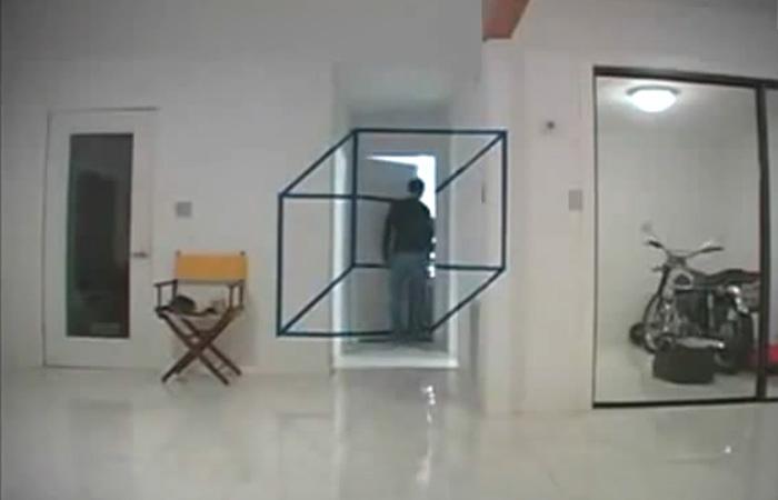 Оптическая иллюзия в интерьере.