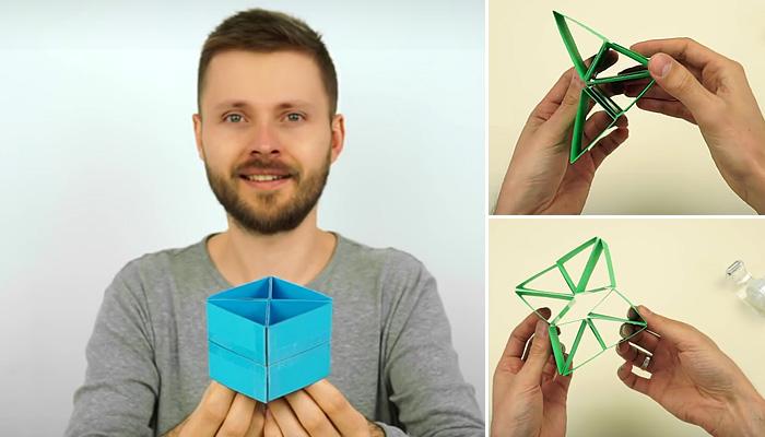 Игрушка-трансформер из бумаги.