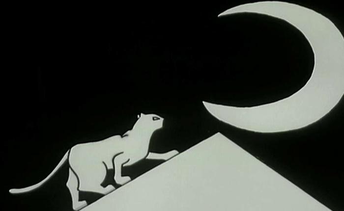 История о Коте и Луне. Португальский мультфильм 1994 г.