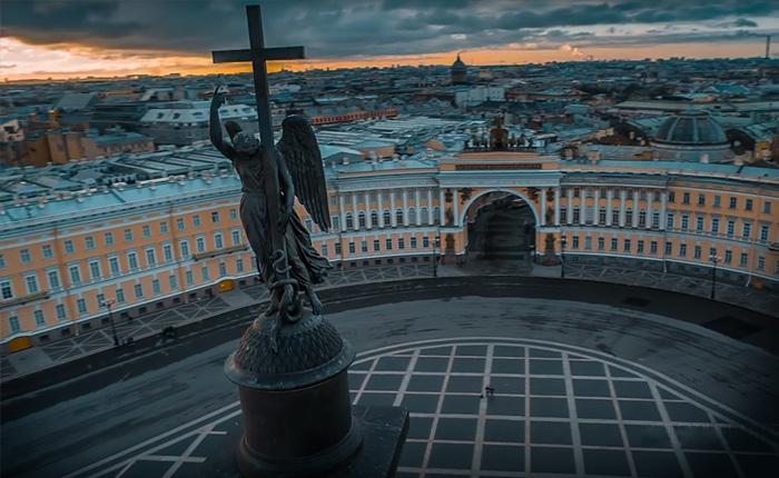 Петербург с высоты. Атмосферное видео.