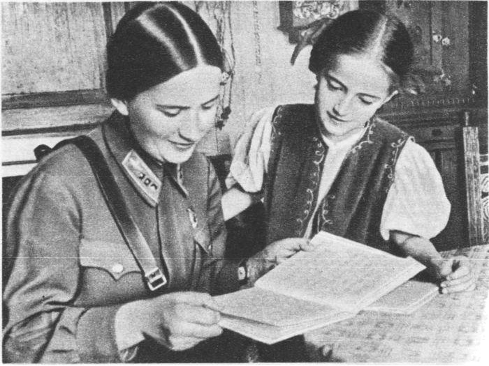 Марина Раскова с дочерью Татьяной