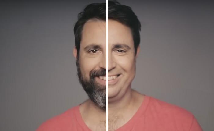 Мужчина носил бороду 14 лет, но когда он сбил ее началось самое интересное.