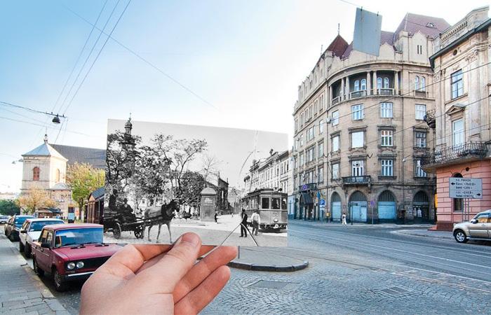 Львов. Угол Соборной площади и улицы Ивана Франко