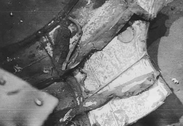 Обломки АПЛ «Трешер» на дне океана. Вид из батискафа «Триест». 1963 г.