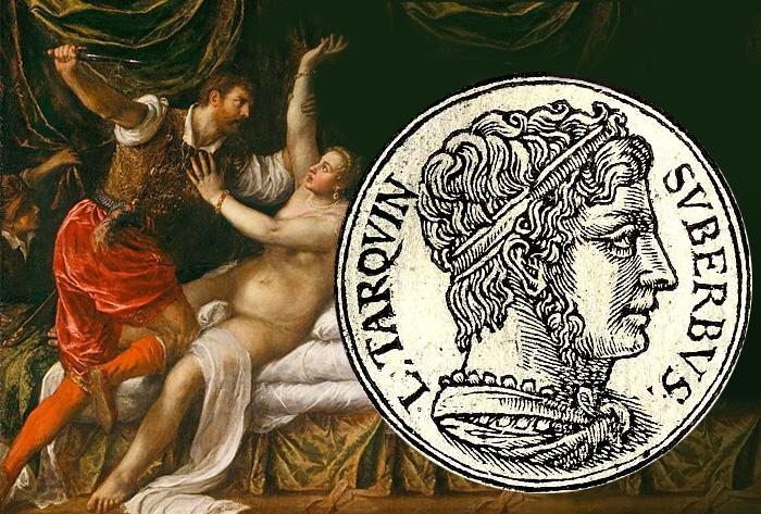 «Секст Тарквиний и Лукреция» Тициан /  Тарквиний Гордый