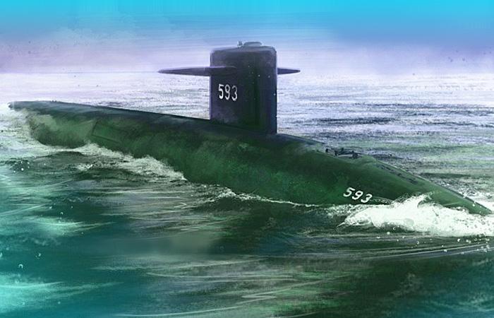 Американская многоцелевая подводная лодка USS Tresher
