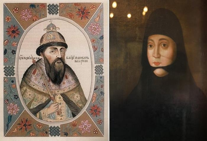 Василий III и Соломония Сабурова.