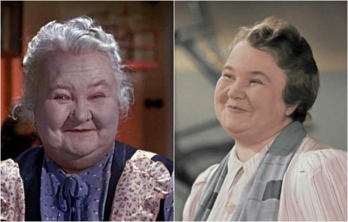 Актриса стояла у истоков советского кино, первое появление датируется 1925 годом, а в культовой сказке досталась роль доброй и заботливой бабушки девочки Оли.