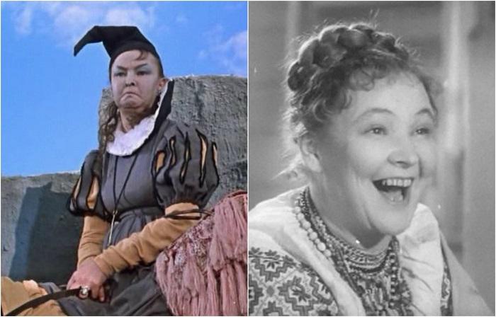 Советская актриса театра и кино, ставшая популярной благодаря своим великолепным отрицательным ролям в детских сказках и комедиях.