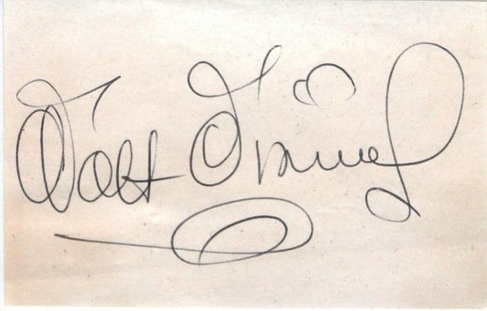 Автограф основателя компании «Walt Disney Productions» один из самых узнаваемых в мире.