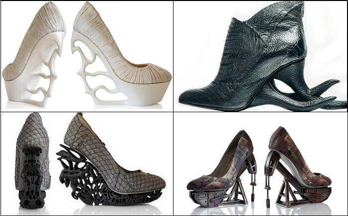 Оригинальная и нестандартная обувь из разных коллекций от Анастасии Радевич (Anastasia Radevich).