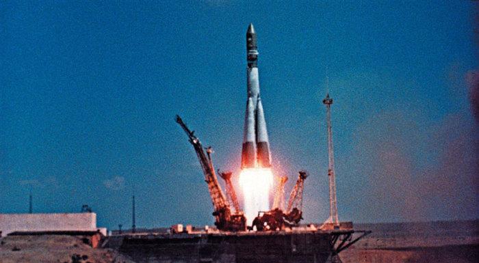 Отправление первого человека в космос, 12 апреля 1961 года. | Фото: topwar.ru.