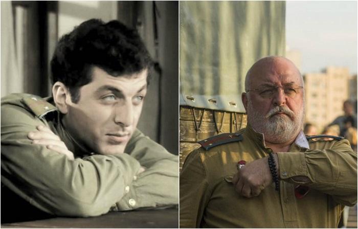 Учась на первом курсе театрального института, дебютировал в фильме «В бой идут одни старики», в роли лейтенанта  (позднее капитана) Вано Кобахидзе.