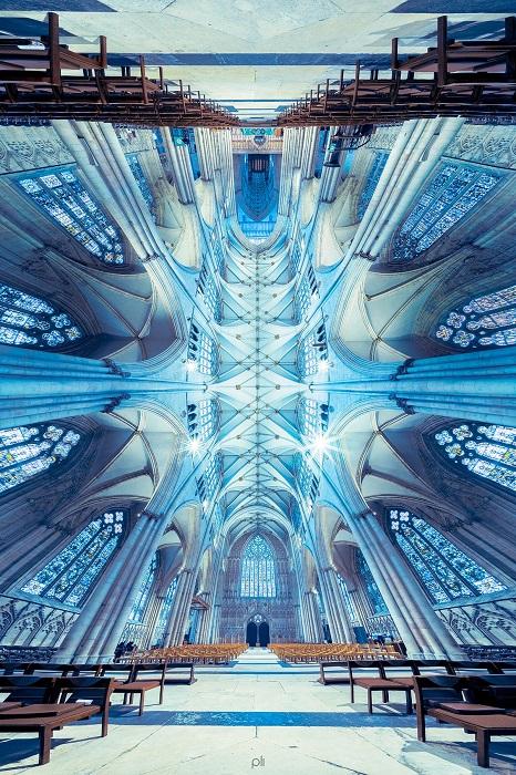 Панорамный снимок готического Йоркского собора – одного из самых больших средневековых храмов Северной Европы.