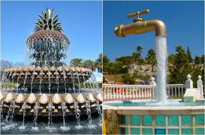 Современные, необычные и красивые фонтаны со всего мира.