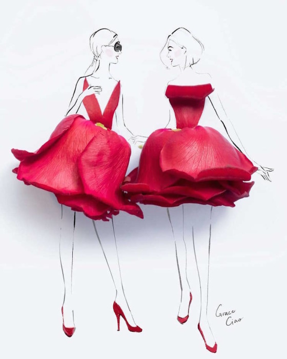 Элегантные платья из природных материалов.