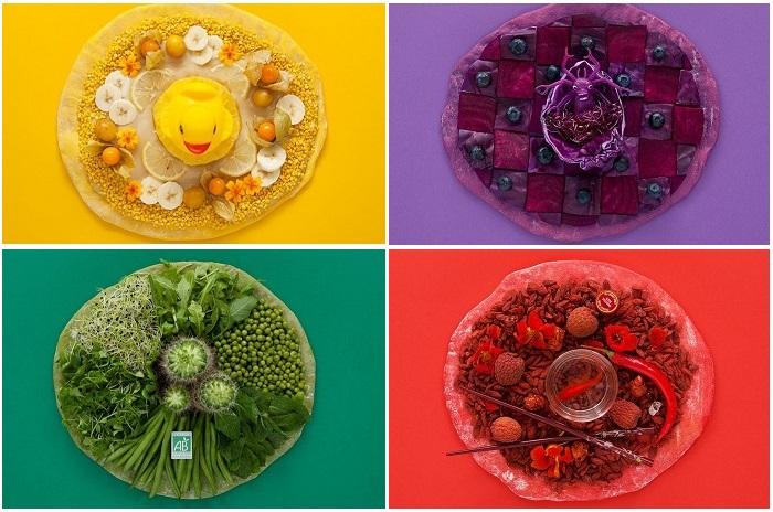 Экспериментальные пиццы от парижской дизайн-студии «Blackpizza».