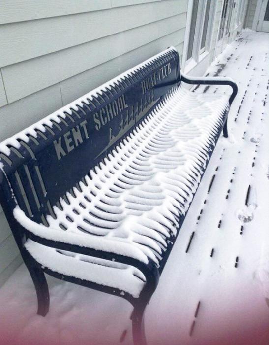 За допомогою снігу лава перетворилася на музичний інструмент.