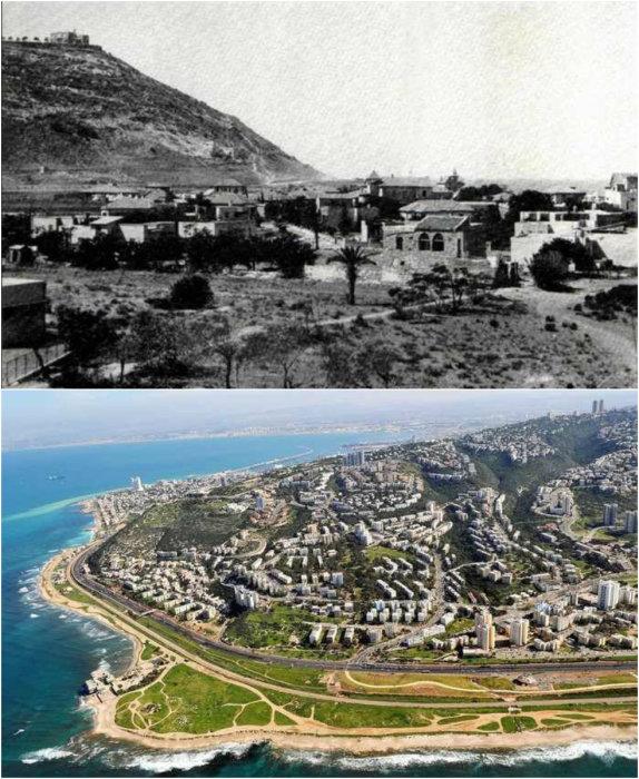 Хайфа — третий по величине город Израиля и второй по величине морской порт, лежит на склонах горы Кармель.