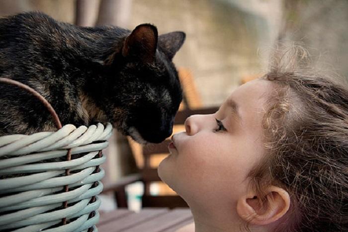 Дай поцелую тебя.