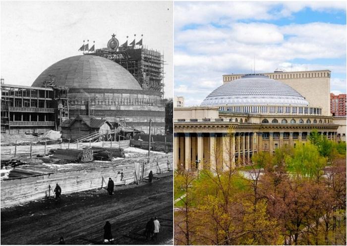 Изменения городской архитектуры Новосибирска за 100 лет.
