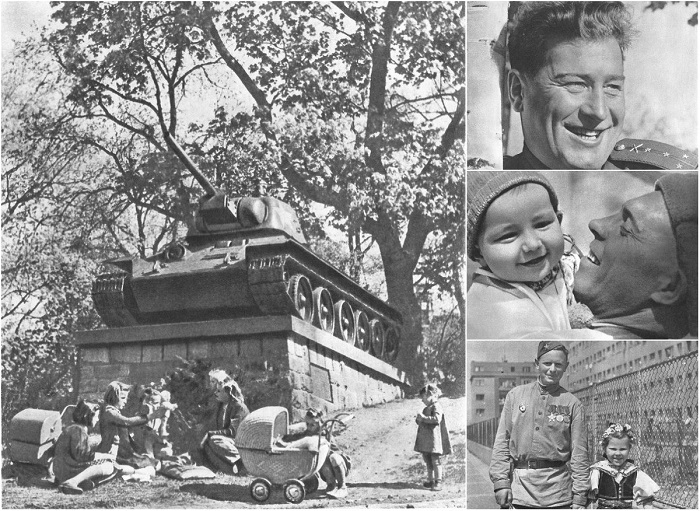 Исторические снимки освобожденной Праги советскими войсками.