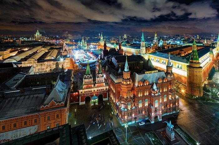 Праздничный город. Фотограф - Сергей Алимов.