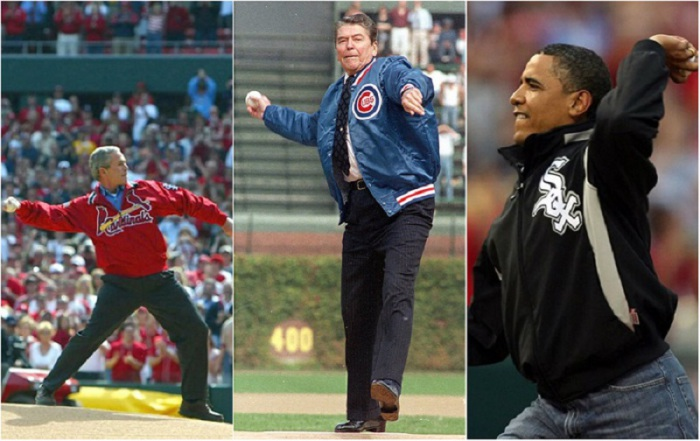 Первые почётные бейсбольные подачи президентов США.