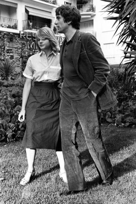 Перед показом фильма «Таксист» на Каннском кинофестивале, 1976 год.