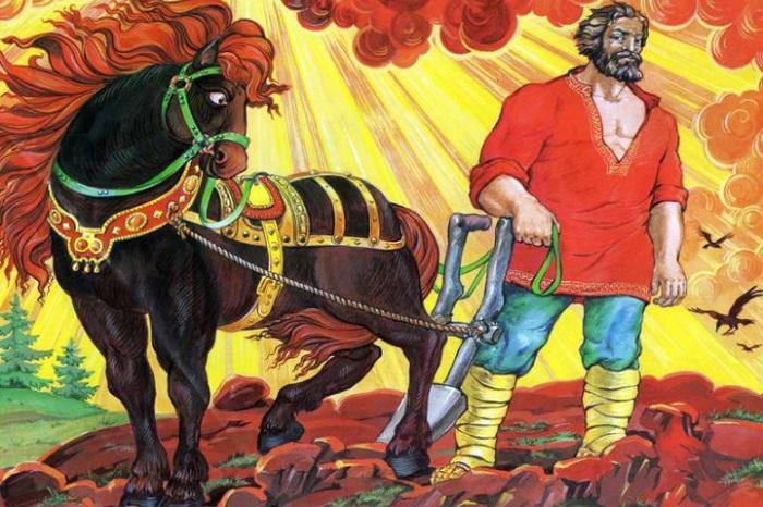 Легендарный пахарь-богатырь, с которым нельзя биться, потому что «весь род Микулов любит Мать — Сыра Земля».