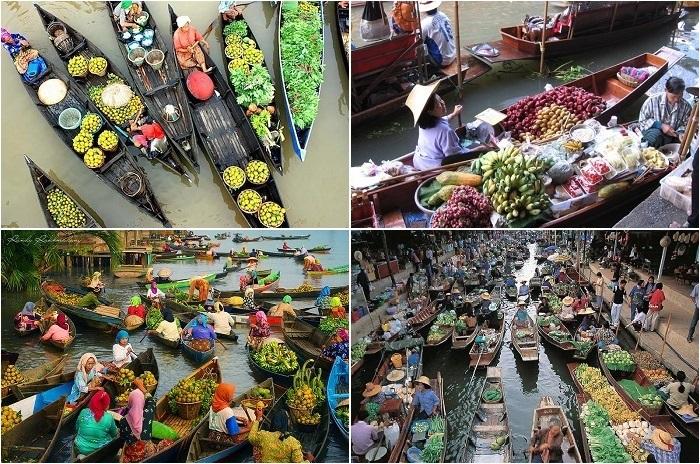 Самые сумасшедшие плавучие рынки Юго-Восточной Азии.