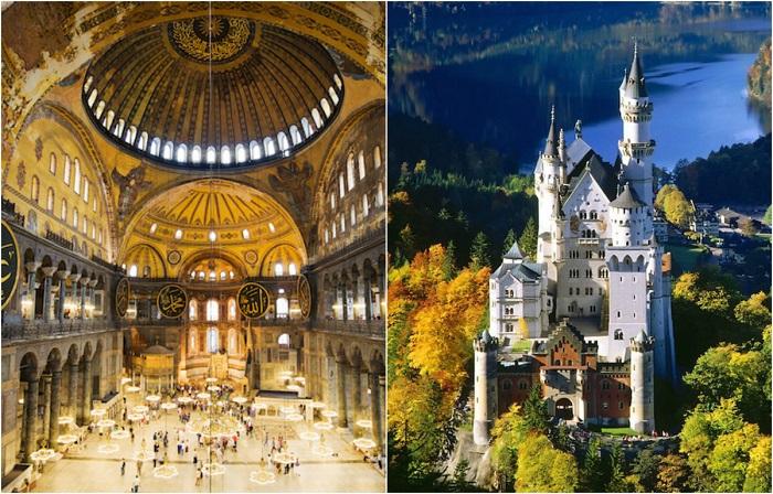 Самые посещаемые места в Европе.