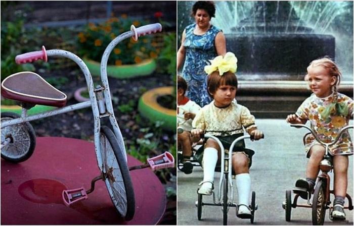 Для советского ребенка этот смешной велосипед с педалями на переднем колесе был мечтой, которая сбывалась далеко не у всех.