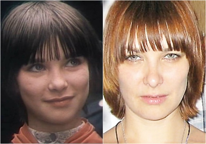 Юная советская актриса, которая на главную роль не прошла, но снялась в фильме «Гостья из будущего» в эпизодической роли Лены Домбазовой.