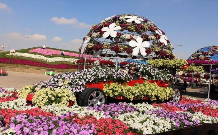 Великолепные виды цветочного парка.