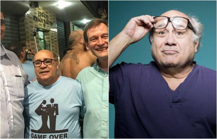 Дэнни ДеВито и его бразильский двойник.