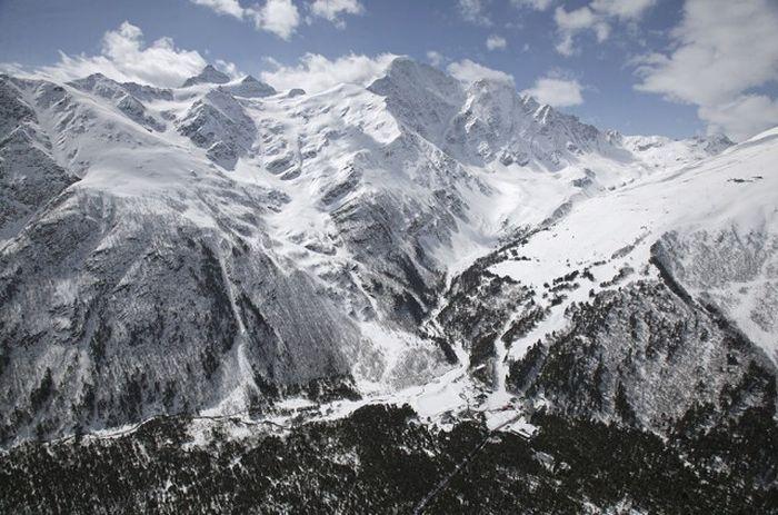 Главный Кавказский хребет.