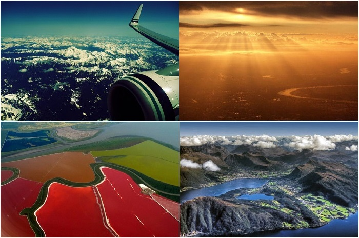 Потрясающие фотографии сделанные из иллюминатора самолета.