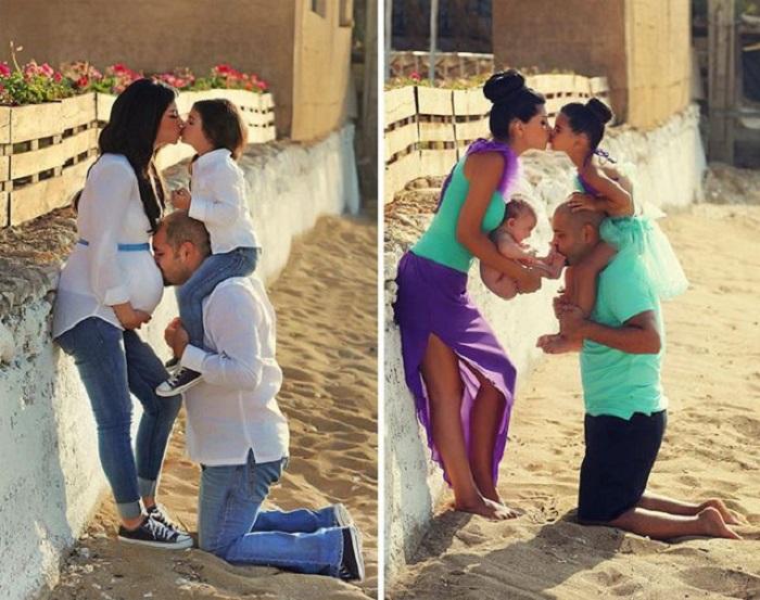 Прекрасные фотографии, показывающие ожидание и появление нового маленького человечка в семье, где царит любовь.