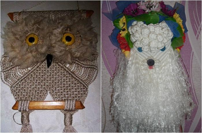 Многие женщины сами занимались рукоделием, основанным на плетении узелков.