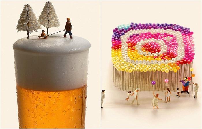 Невероятные миниатюры из обыденных предметов.
