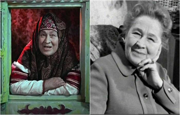 Актриса осталась в памяти поколений школьников доброй бабушкой - сказательницей из кинолент экранизированных на тему русских народных сказок.