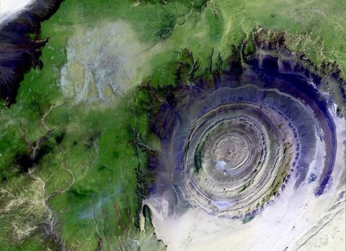 Геологическая структура Глаз Сахары.