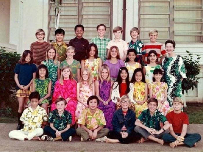 Частная начальная школа острова Пунахоу являлась очень престижной, в ней учились наиболее богатые и успешные ученики, Гонолулу, США, 1972 год.