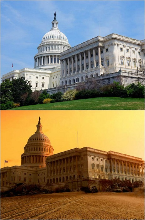 Один из самых удивительных достопримечательностей Вашингтона во время засухи.