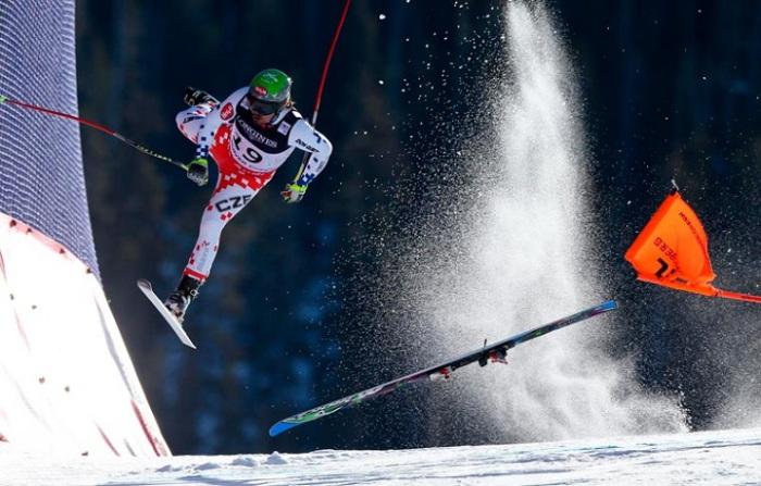 Неудача постигла чешского горнолыжника.