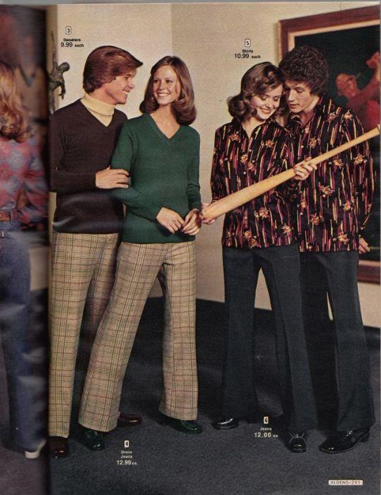 Парные костюмы для влюбленных – романтические тенденции 1970-х годов.