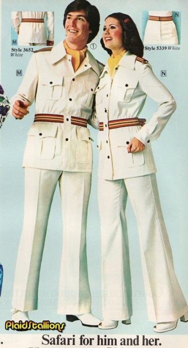 Модные журналы предлагали огромный выбор парной одежды с одинаковым дизайном, формой и расцветкой.